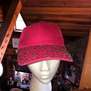 Hot pink bling baseball hat cap NWT